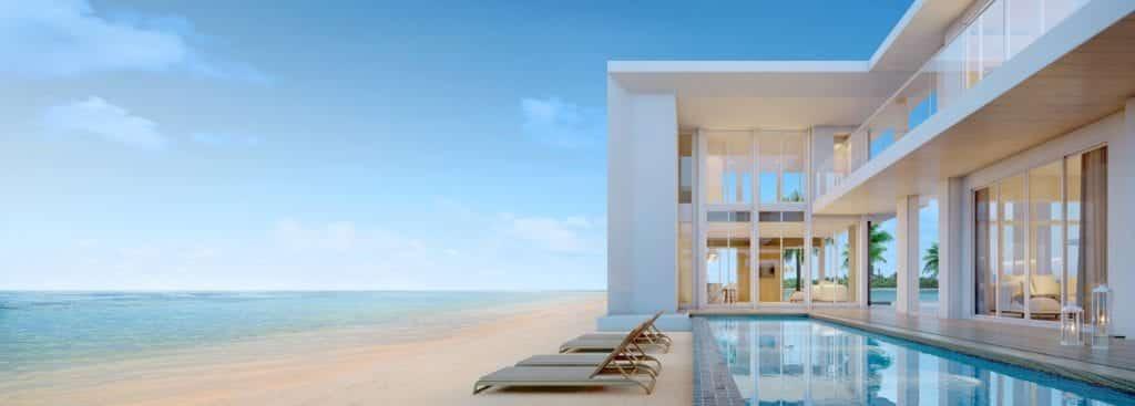 impact resistant windows on a beach house
