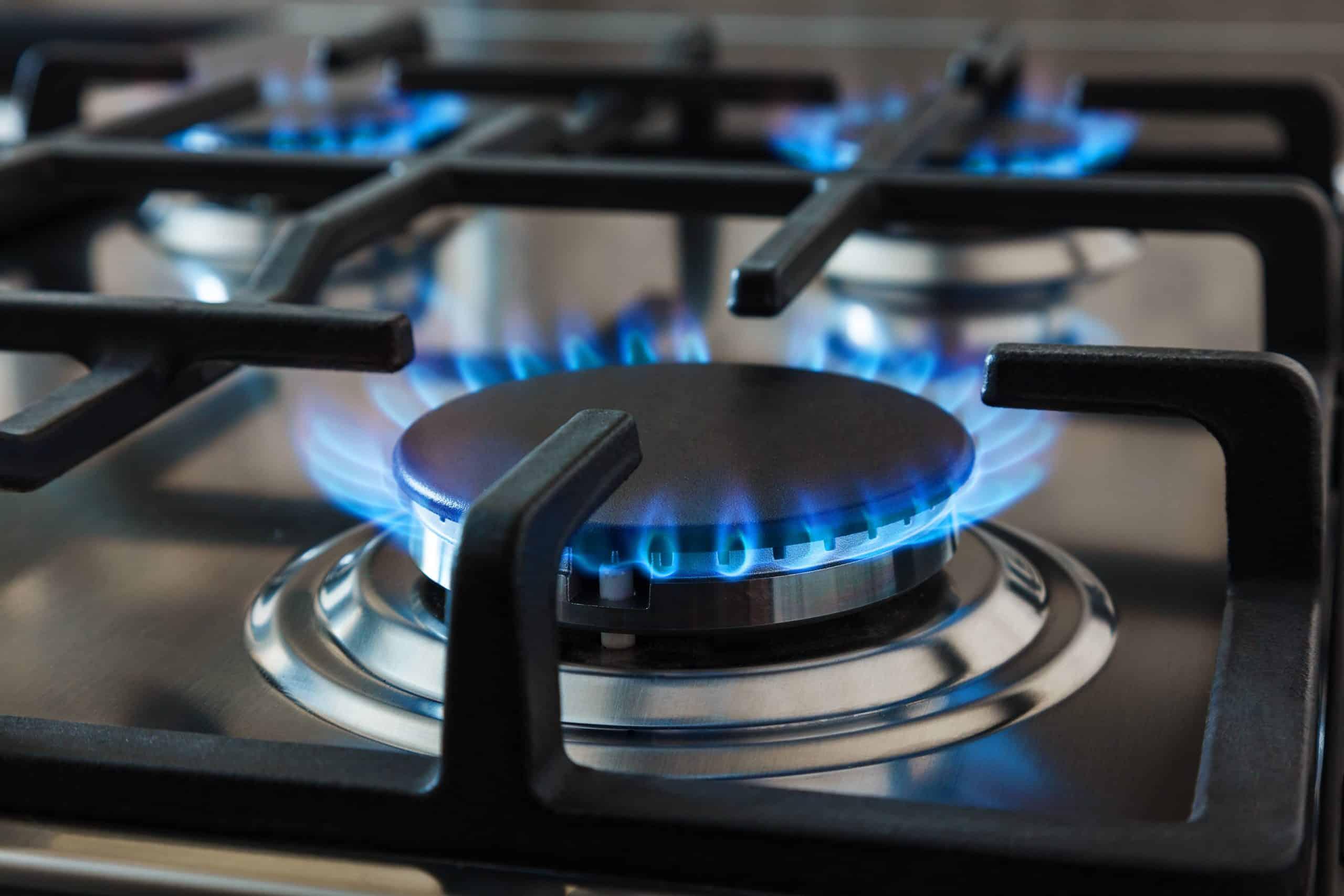 Gas burner on a stove